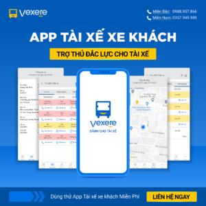 App tài xế xe khách VeXeRe - Phần Mềm Nhà Xe VeXeRe